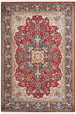 Diamond Medallion Kashan Area Rug