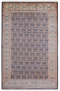 Royale Blue Seneh Silk Carpet