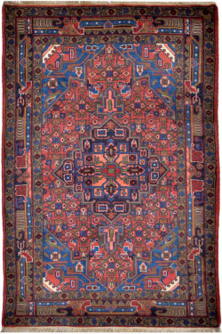 Semi Medallion Une Afghan Area Rug