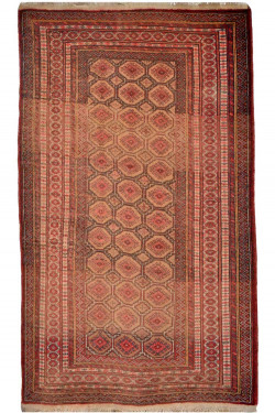 Old Tribal Bokhara Area Rug