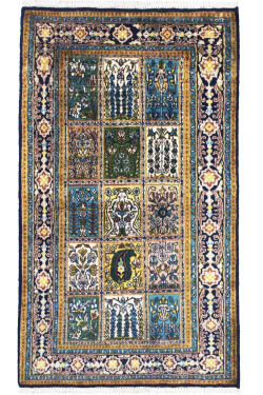Teal Qum Handmade Rug