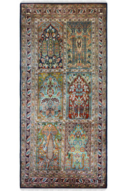 Six Box Hamadan Silk Runner