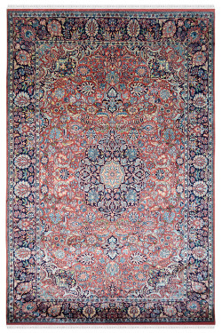 Red Queen Beautiful Silk Area Rug