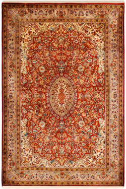 Rouge Fine Jewel Silk Area Rug