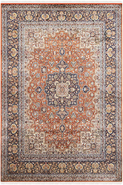 Gold Sikka Kashan Pure Silk Carpet