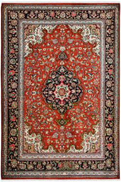 Rouge Medallion Silk Carpet