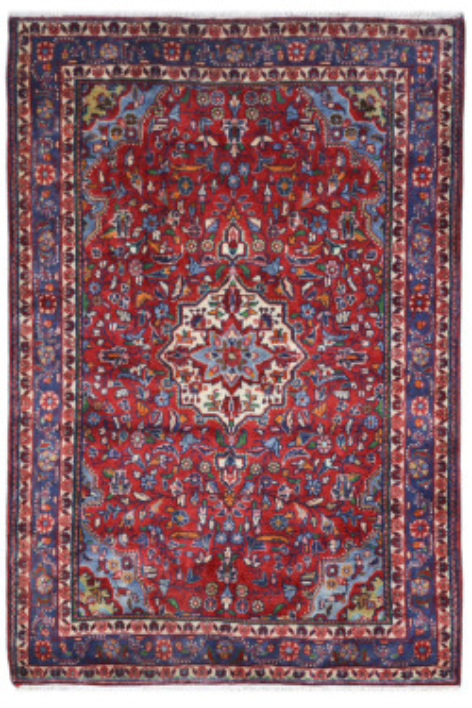 Maroon Phool Kashan AfghanCarpet