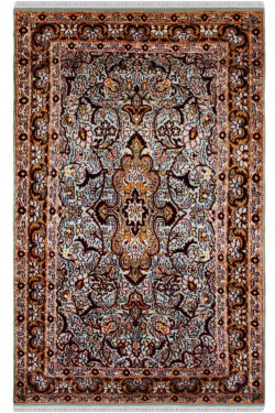 Neel-e-Kirman Silk Area Rug