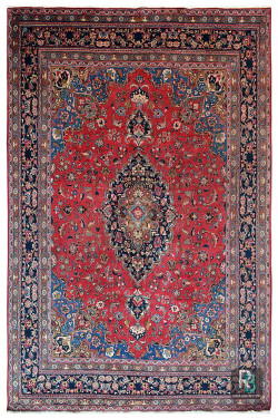 Kashmir Kashan Kali Pure Persian Wool Carpet