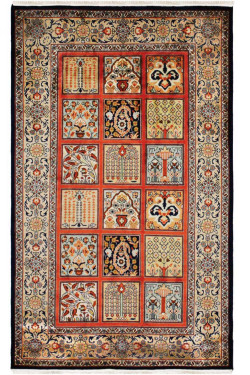 Qum Peach Panel Handmade Rug