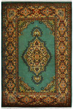 Medallion Jewel Handmade Silk Rug