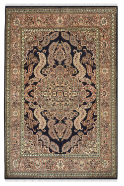 Victorian Silk HandKotted Silk Carpet