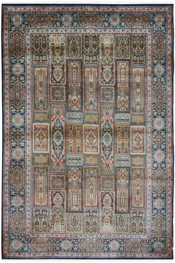 Box Hamadan Silk On Silk Handmade Carpet