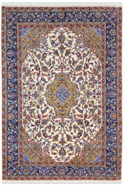 Ivory Neel Kashan Woolen Carpet