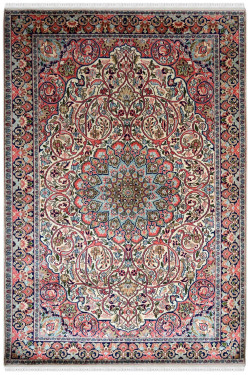 Persian Ardabil Handknotted Indian Silk Rug