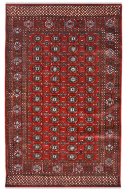 Indian Bukhara Afghan Area Rug