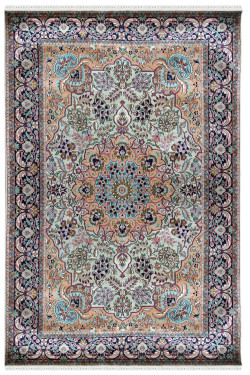 Bunch of flower bud Handknotted Silk Area Rug