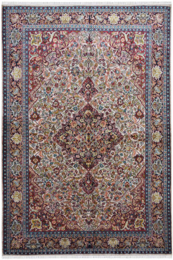 Classic Diamond Traditional Silk Rug