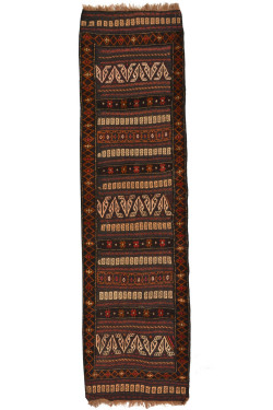 Striped Tribal Area Runner Rug