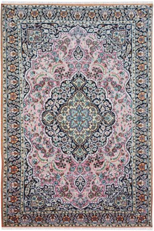 Floral Stamp Kashmiri Wool Area Rug