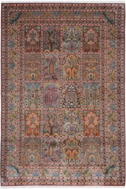 Traditional Hamadan Pure Silk Area Rug