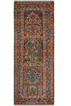 Hamadan Persian Style Silk Area Runner