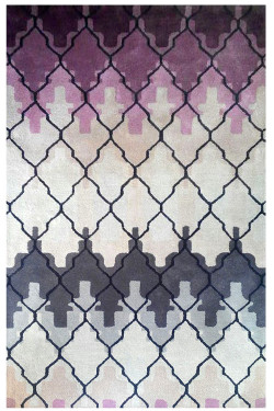 Purple haze Beautiful Modern Hand-tufted Rug