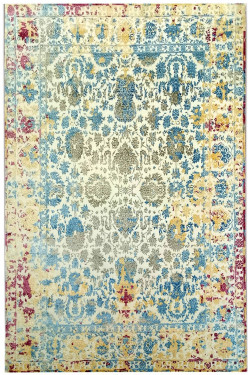 Floral Mixup Handknotted Wool Carpet