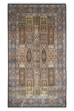 Mid Panel Hamadan Silk Area Rug