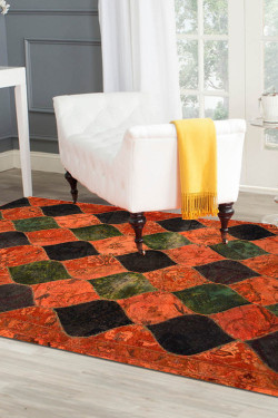 Patch Apache Woolen Rug