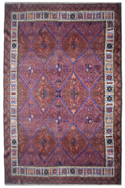 Ethnic Antique Diamond Afghan Vintage Area Rug