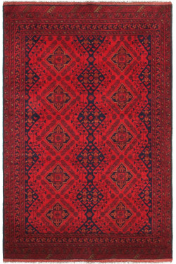 Rust Bokhara Traditional Small Size Afghan Area Rug