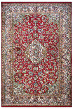 Red Ivory Small Kashan 3 by 5 ft Handknotted Carpet