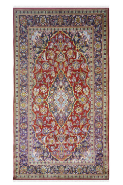 Tabriz Kashan Vintage Medium Size Red Area Rug