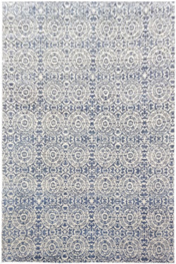 Circular Queue Handknotted Modern Rug