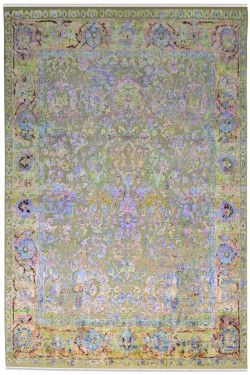 Dull Phase Sari Silk Area Rug