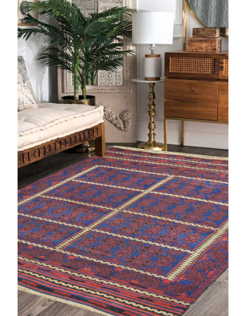 Turkish Caucasian Kilim Area Rug