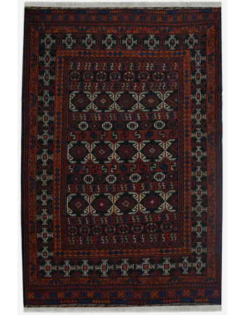 Brown Rustic Wool Kilim