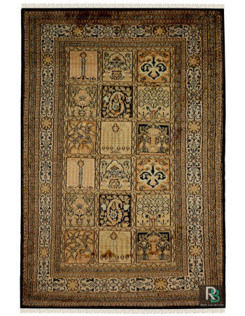 Traditional Panel Hamadan Handknotted Area Rug