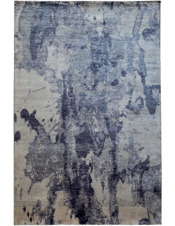 Blue Sky Hand-knotted Modern Wool Area Rug