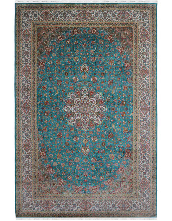 Large Silk Rug Center Medallion