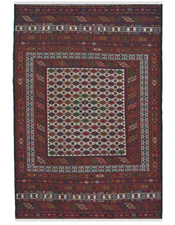 Caucasian Kilim Multi Color Area Rug