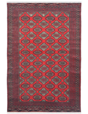 Vibrant Amrit Red Bukhara Carpet