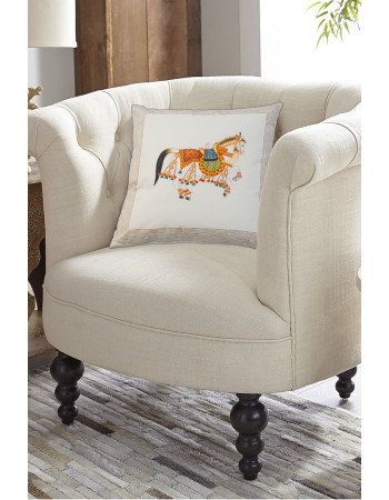 Rajput Horse Beautiful Cotton Printed Pillow