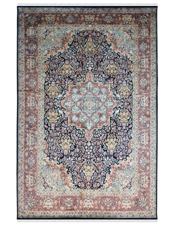 Jewel Medallion Silk on Cotton Carpet