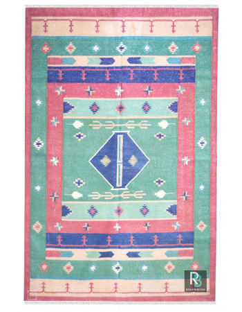 Turkish Traditional Cotton Dhurrie
