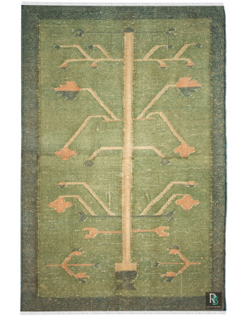 Tree of life Flat-Woven Cotton Dhurrie