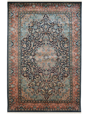 Kashan Royal Blue Traditional Handmade Carpet