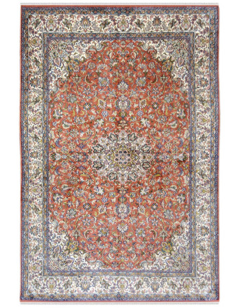 Rust Silk Kashan