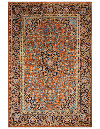 Santari Medallion Handknotted Silk Area Rug